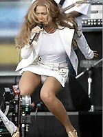 Upskirt pictures - Super trimming Beyonce Knowles