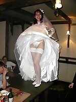 Upskirt pictures - Pics of Bride Dressed In Wedding Dress