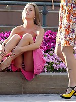 12 pictures - Russian teen spyed. Hot sitting upskirt