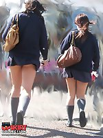 Upskirt pictures - Panty up skirts asian schoolgirl. What can be hotter?