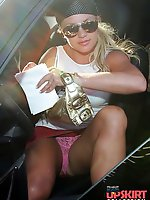 Upskirt pictures - Britney Spears upskirt voyeur free photo gallery