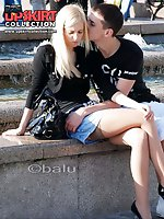 Upskirt pictures - Panty upskirts filmed outdoors
