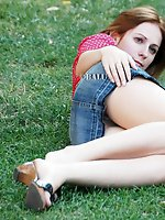 12 pictures - Hot milf and young blondie flash up skirt