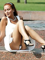 12 pictures - Random girls filmed for spy upskirt