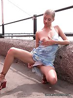 Upskirt pictures - Incredible blonde's upskirt shot in insane photo session